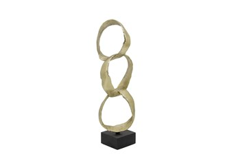 18 Inch Gold Stacking Rings On Stand