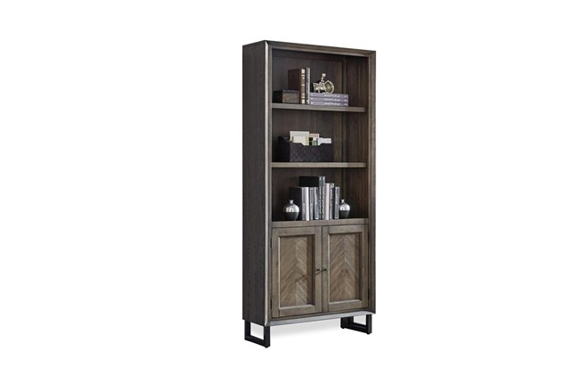 Kase Bookcase With Cabinet Doors - 360