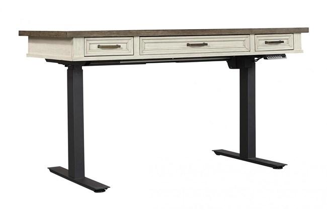 Givens Adjustable Desk With Usb - 360