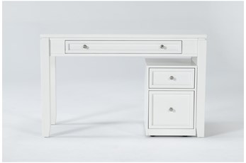 Shia Desk With Rolling File Cabinet