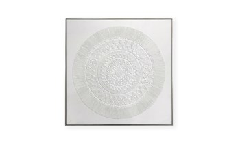 Picture-Ivory Textured Medallion 24X24