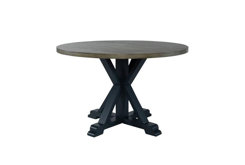 Fairfield Navy Round Dining Table