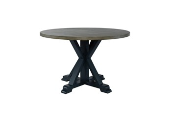 Fairfield Navy Round Dining Table