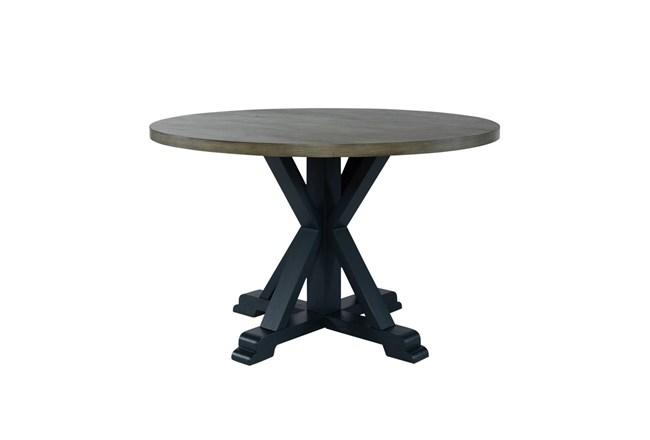 Fairfield Navy Round Dining Table - 360