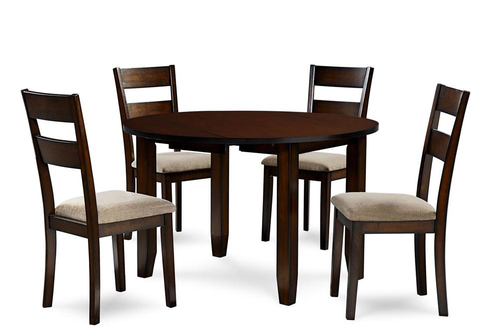 Branton 5 Piece Round Drop Leaf Dining Set
