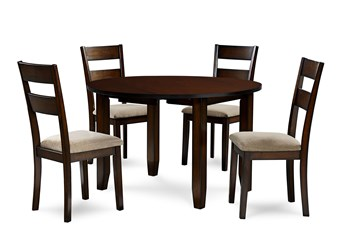 Branton 5 Piece Round Drop Leaf Dining Set
