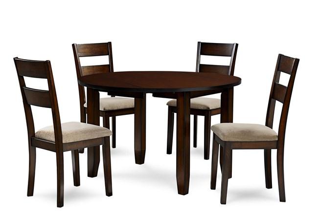 Branton 5 Piece Round Drop Leaf Dining Set  - 360