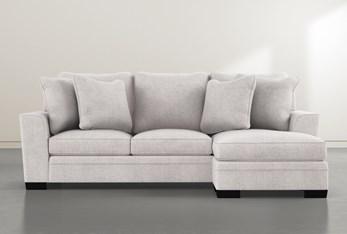 Delano White Sofa Chaise