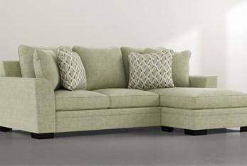 Delano Green Sofa Chaise
