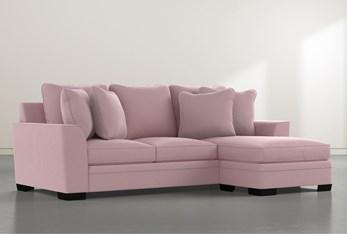 Delano Velvet Pink Sofa Chaise