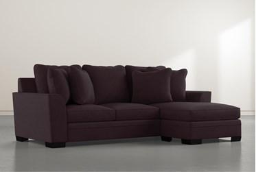 Delano Purple Sofa Chaise