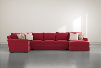 Delano Scarlett 3 Piece Sectional With Right Arm Facing Chaise