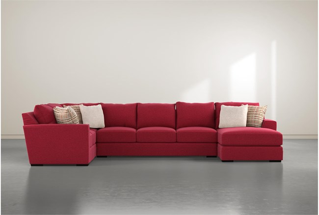 Delano Scarlett 3 Piece Sectional With Right Arm Facing Chaise - 360