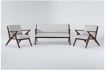 Kendrick Stone 3 Piece Living Room Set