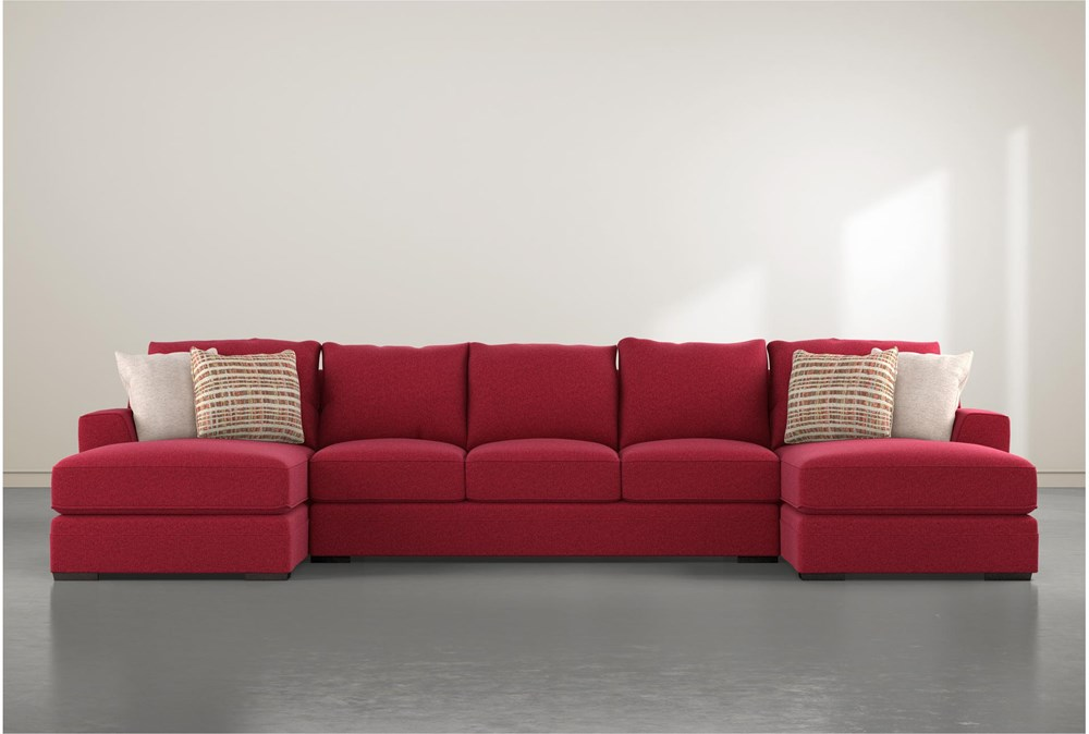 Delano Scarlett 3 Piece Sectional With Double Chaise