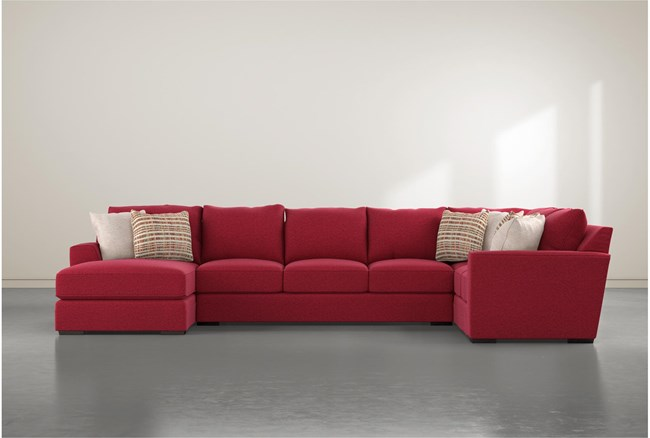 Delano Scarlett 3 Piece Sectional With Left Arm Facing Chaise - 360