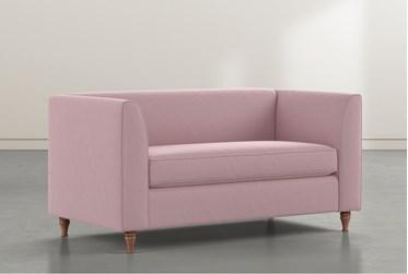 Frances Pink Velvet Settee