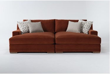 Emmett Velvet Double Chaise Sectional