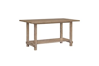 Auburn Honey Counter Height Trestle Table