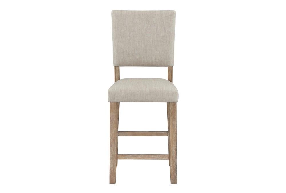 Auburn Honey Upholstered Counter Height Dining Chair