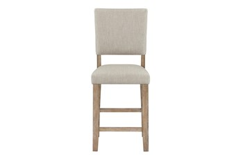 Auburn Honey Upholstered Counter Height Dining Chair