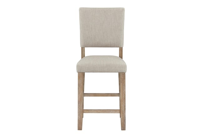 Auburn Honey Upholstered Counter Height Dining Chair - 360