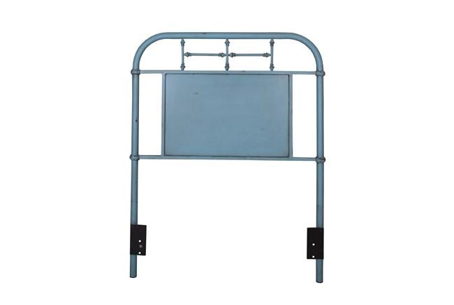 Cedar Falls Blue Twin Metal Headboard - 360