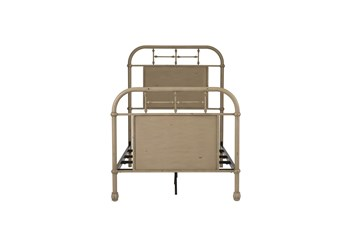 Cedar Falls Cream Twin Metal Bed