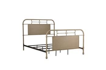 Cedar Falls Cream Queen Metal Bed