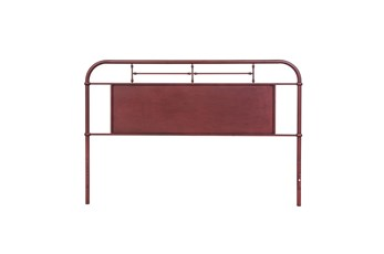 Cedar Falls Red King Metal Headboard