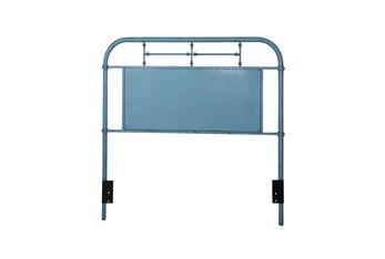 Cedar Falls Blue Full Metal Headboard