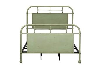 Cedar Falls Green Full Metal Bed
