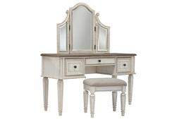 Realyn Vanity/Mirror/Stool