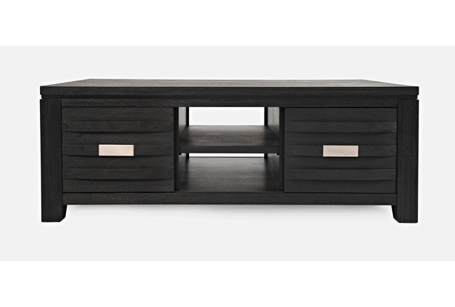 Zachar Charcoal Storage Cocktail Table - 360