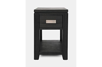 Zachar Charcoal Power Chairside Table