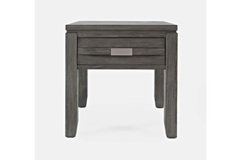 Zachar Grey End Table With Drawer