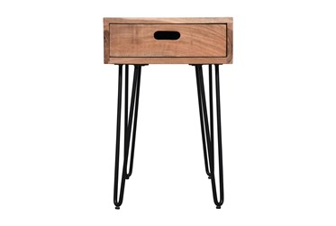 Silas Chairside Table With Drawer