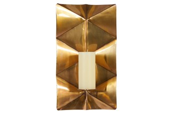 """18"""" Gold Stainless Steel Wall Sconce"""