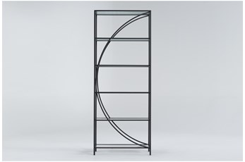 Apollo Metal + Glass Bookcase