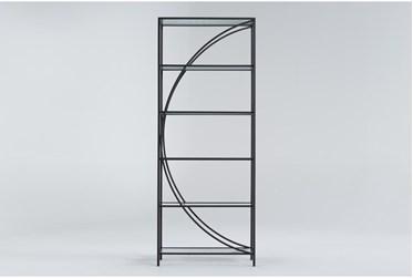 Apollo Metal + Glass Room Divider Bookcase