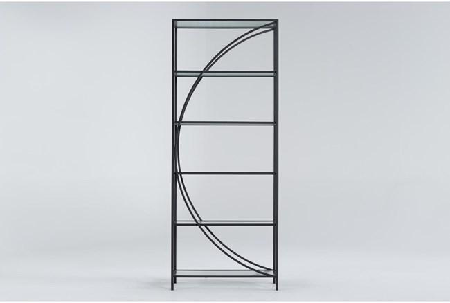 Apollo Metal + Glass Bookcase - 360