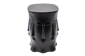 Metal Multi-Faced Stool, Black