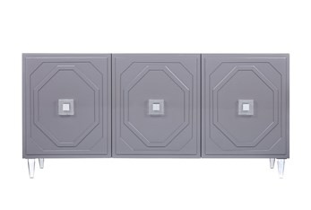 """Forte Grey Lacquer 65"""" Sideboard"""