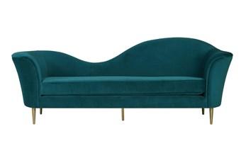 Thea Aqua Velvet Sofa