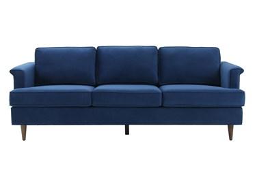 """Irving Navy 88"""" Velvet Sofa"""