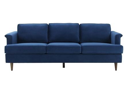 Irving Navy Velvet Sofa - Main
