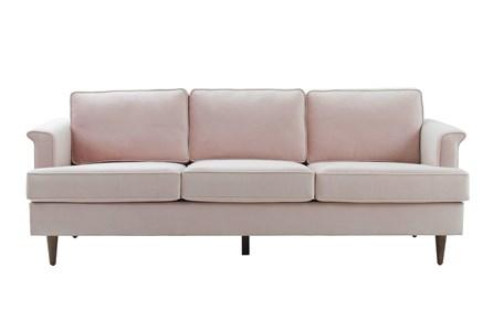 Irving Blush Velvet Sofa - Main