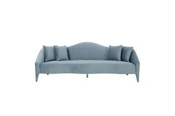 Ava Sea Blue Velvet Sofa