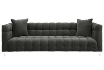 Tatum Grey Velvet Sofa