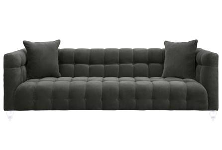 Tatum Grey Velvet Sofa - Main
